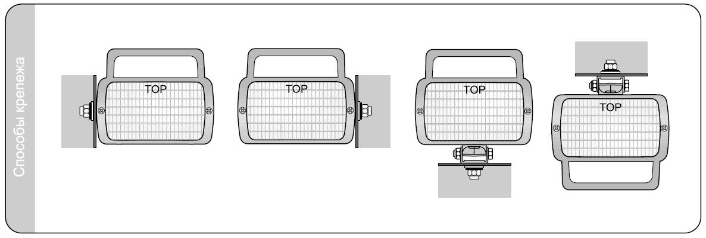 Фара рабочего света прямоугольная Wesem 4LPR